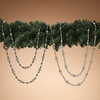 Silver Themed Beaded Garland, 6 ft , ST2430690
