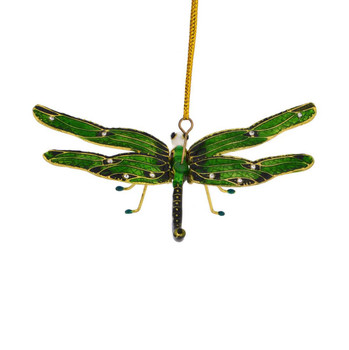 Cloisonne Articulated Dragonfly Ornament back top