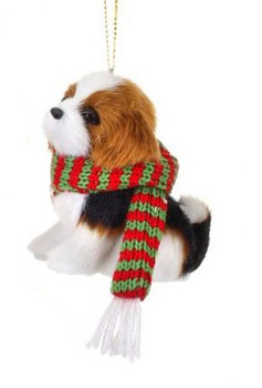 "Furry King Charles Puppy Dog Ornament, 3 1/2"", rgmtx61891-cav"