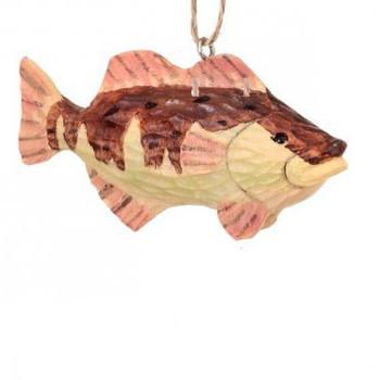 "Brown and Pink Fish Ornament, 1 5/8 x 3 3/8"", RGMTX61118-brn"