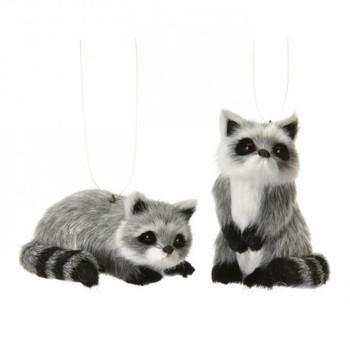 "Furry Raccoon Ornament, 3 1/4 - 3 1/2"", RGMTX53033"