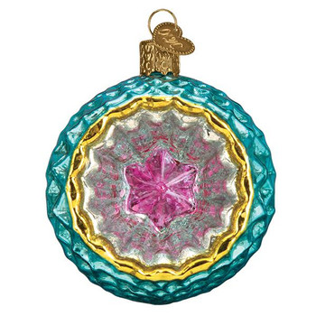 Faceted Sky Reflection Glass Ornament