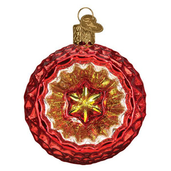 Faceted Crimson Reflection Glass Ornament