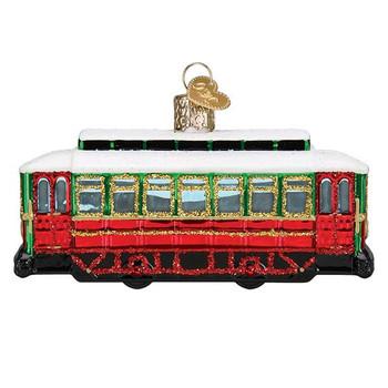 Trolley Glass Ornament