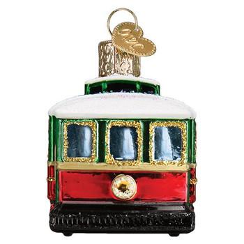 Trolley Glass Ornament back
