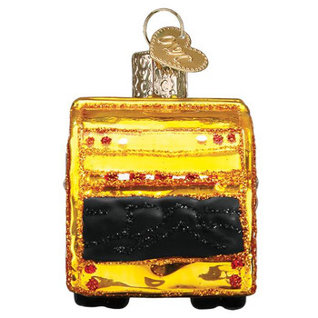 Garbage Truck Glass Ornament back