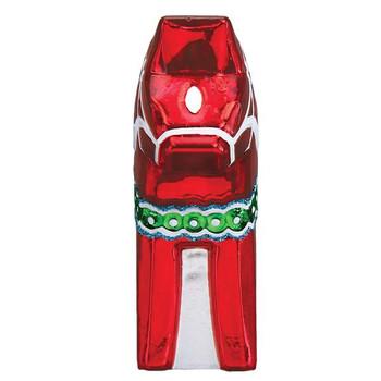 Swedish Dala Horse Glass Ornament front
