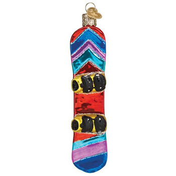 Snowboard Glass Ornament