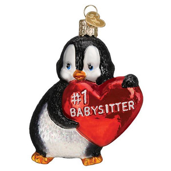 Best Babysitter Glass Ornament