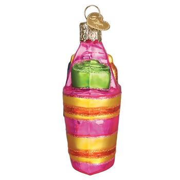 Beach Bag Glass Ornament left side