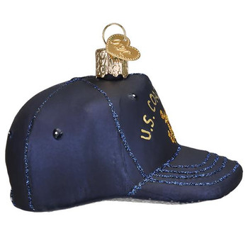Coast Guard Cap Glass Ornament right side