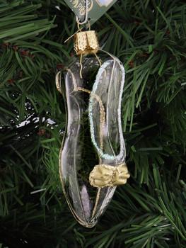 Cinderella's Slipper Glass Ornament right side