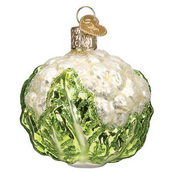 Cauliflower Glass Ornament side