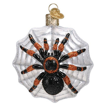Tarantula Glass Ornament