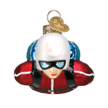 Skydiver Glass Ornament front