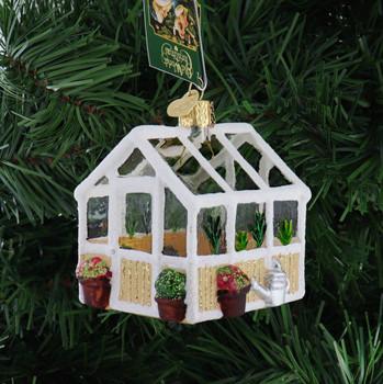 Greenhouse Glass Ornament back