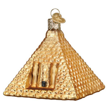 Egyptian Pyramid Glass Ornament
