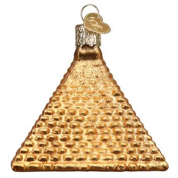 Egyptian Pyramid Glass Ornament side