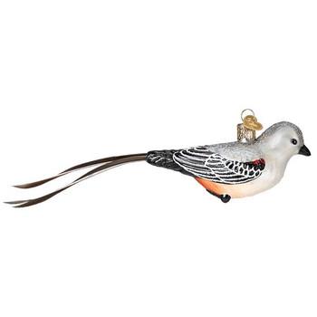 Scissor-tailed Flycatcher Glass Ornament