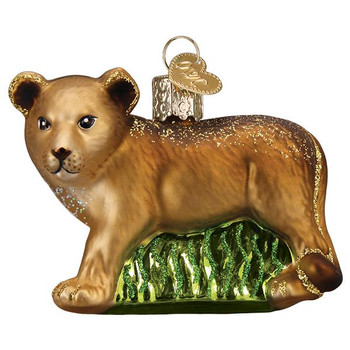 Lion Cub Glass Ornament