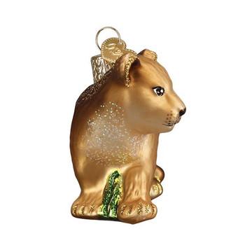Lion Cub Glass Ornament front
