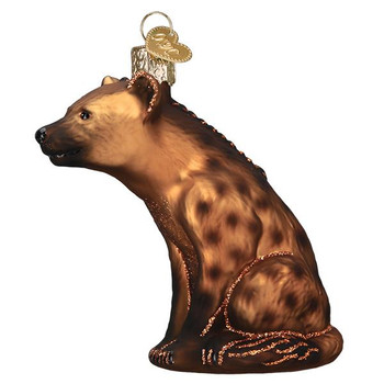 Happy Hyena Glass Ornament
