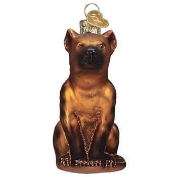 Happy Hyena Glass Ornament front