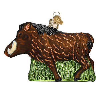 Warthog Glass Ornament