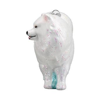 Samoyed Glass Ornament front
