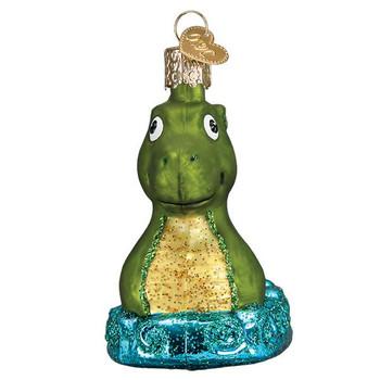 Scotland Loch Ness Monster Glass Ornament front