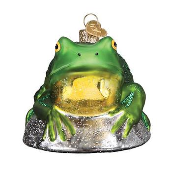 Bullfrog Glass Ornament front