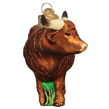 Highland Cow Glass Ornament front