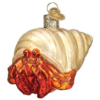 Hermit Crab Glass Ornament