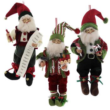 Premium Bendable Workshop Elf Doll Ornament or Shelf Sitter