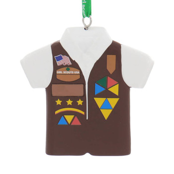 Girl Scout Brownies Vest Ornament