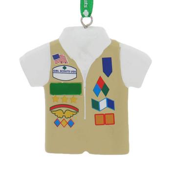 Girl Scout Cadette Senior Ambassador Tan Vest Ornament