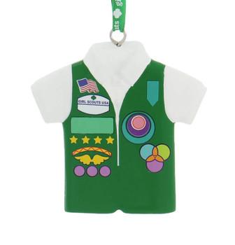 Girl Scout Junior Green Vest Ornament