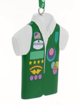 Girl Scout Junior Green Vest Ornament side