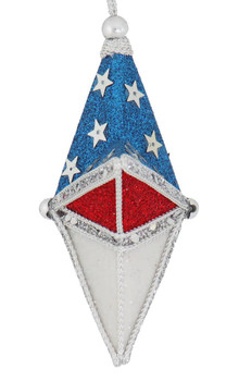 Patriotic 5-Point Star Ornament side