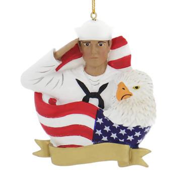 Hispanic Navy Sailor Ornament