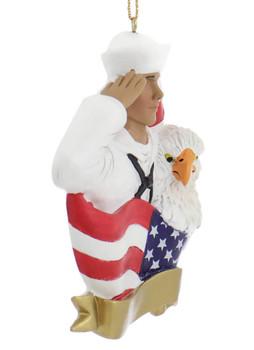 Hispanic Navy Sailor Ornament side