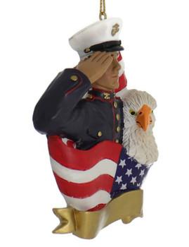 Hispanic Marine Ornament side