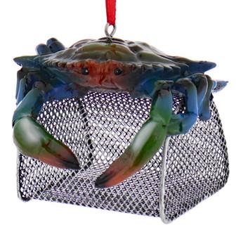 Blue Crab Trap Ornament