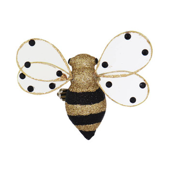 Clip On Honey Bee Ornament dots on wings top