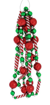 Sweet Christmas Red and Green Garland side