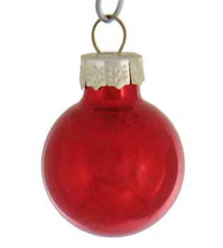 20 pc Mini Christmas Balls Ornament Set  red