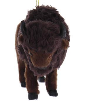 Furry American Buffalo Ornament front