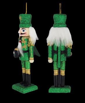 Irish Nutcracker Wood Ornament left side back