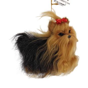 Plush Yorkshire Terrier Ornament