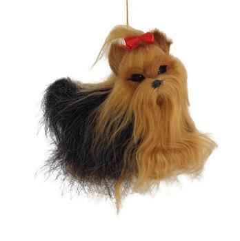Plush Yorkshire Terrier Ornament front